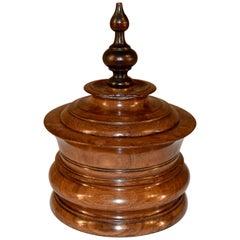 19th Century Turned Treen Humidor