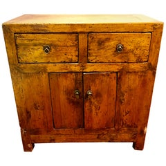 19th Century Two over Two Small Chest of Drawers or Nightstand