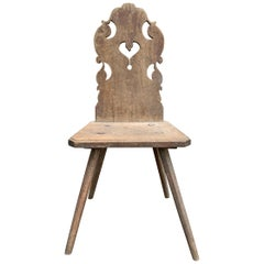 19th Century Tyrolean Side Chair