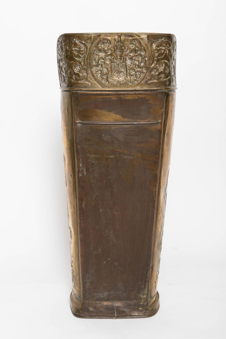 Brass 19th Century Umbrella Stand For Sale