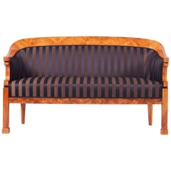 19th Century Unique Austrian Biedermeier Sofa, Material Walnut, Period 1820-1829