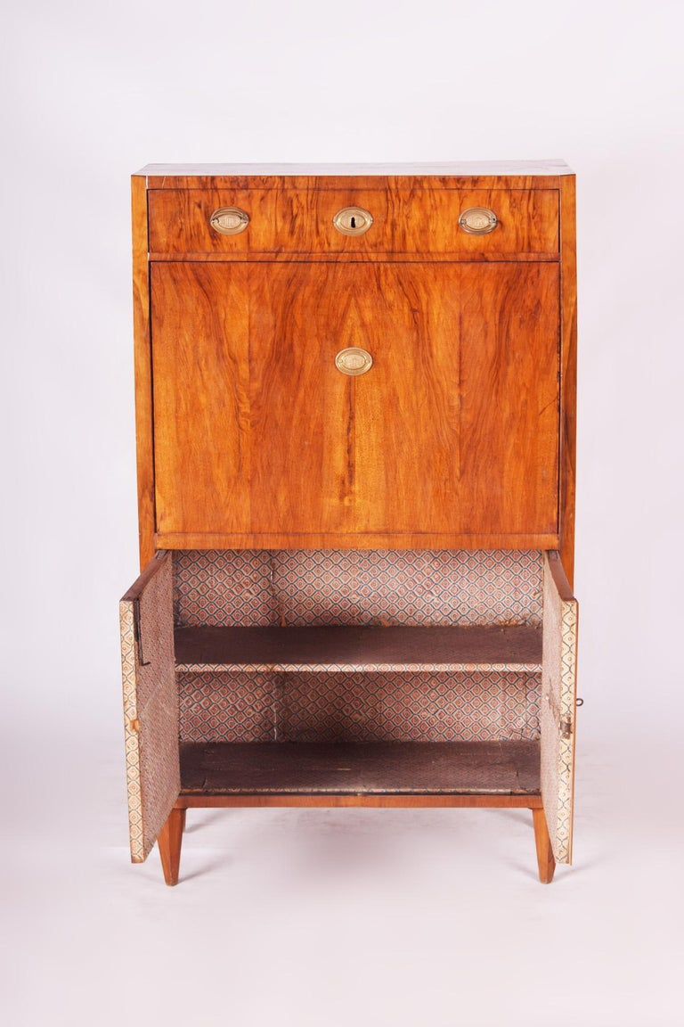 19th Century Unique Czech Walnut Biedermeier Secretary/Writing Desk, 1830s For Sale 6