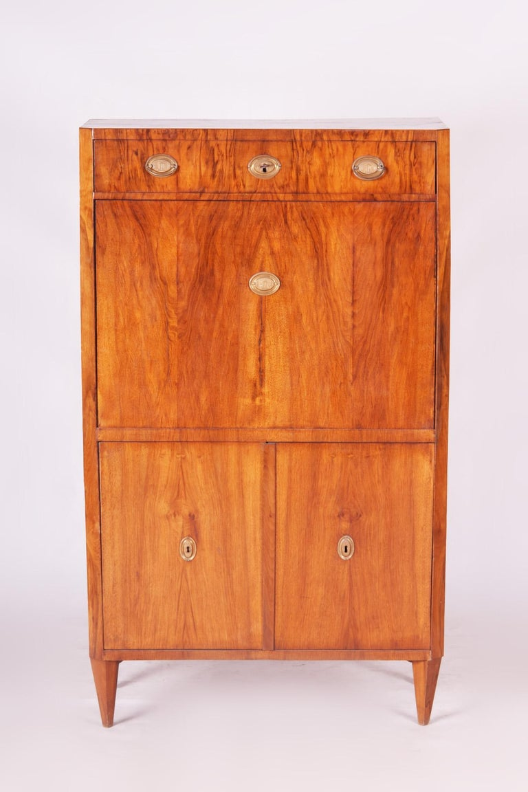 Biedermeier secretary and writing desk, (Cylinder)