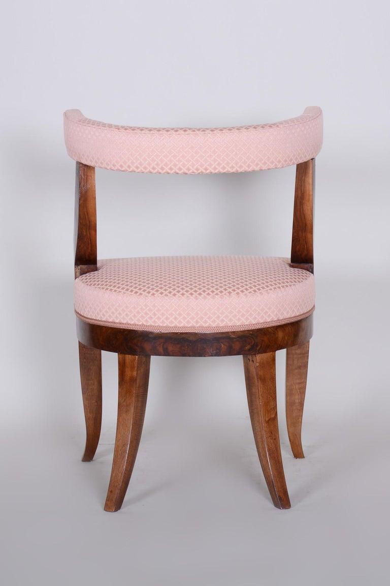 19th Century Unique Restored Biedermeier Armchair, Vienna, 1820s, New Upholstery For Sale 1