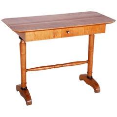19th Century Unique Restored German Biedermeier Maple Writing Desk, 1830s