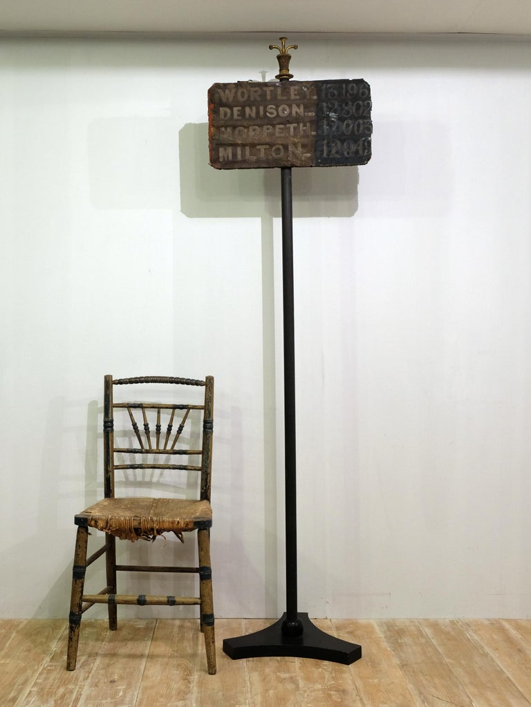 Country 19th Century United Kingdom General Election Results Sign, Hand Painted on Stand For Sale