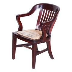 19th Century Unusua Restored Biedermeier Mahogany Armchair, Germany, 1840s