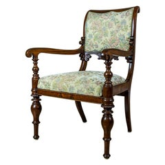 19th Century Upholstered Biedermeier Armchair