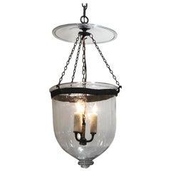 19th Century Val St. Lambert Crystal Bell Jar Lantern