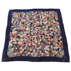 19th Century Velvet and Silk Crazy Quilt