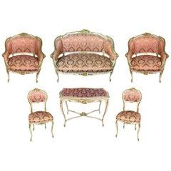 19th Century Venetian Cabinetmaking Set of 7 Objects
