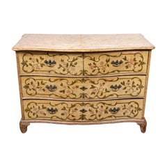 19th Century, Venetian, Floral Painted Commode