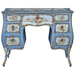 19th Century Venetian Rococo Style Bombe Shaped Vanity, circa 1830