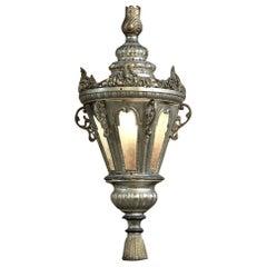 19th Century Venetian Silvered Brass Lantern Chandelier