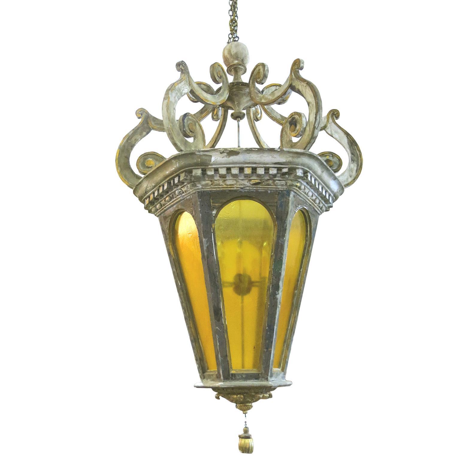 19th Century Very Large Italian Lantern Chandelier