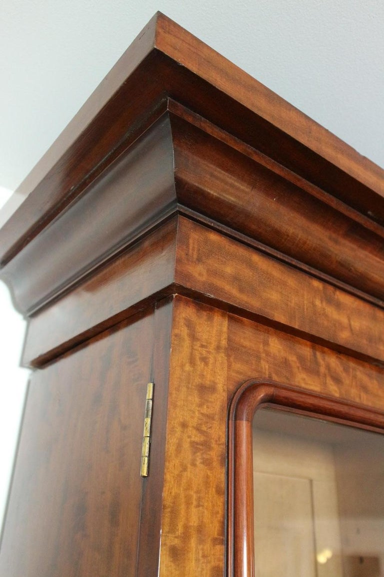 Early Victorian 19th Century Victorian 6 Door Mahogany Bookcase For Sale