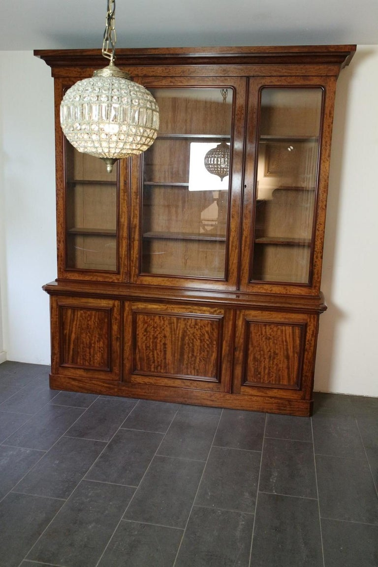 19th Century Victorian 6 Door Mahogany Bookcase In Good Condition For Sale In Eindhoven, NL