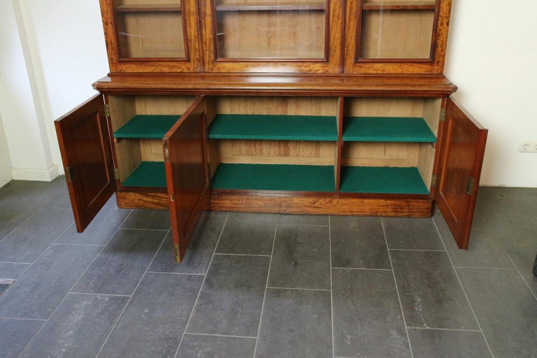 Mid-19th Century 19th Century Victorian 6 Door Mahogany Bookcase For Sale