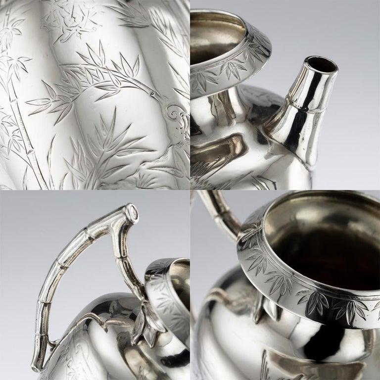19th Century Victorian Aesthetic Movement Silver Tea Service, circa 1880 For Sale 3
