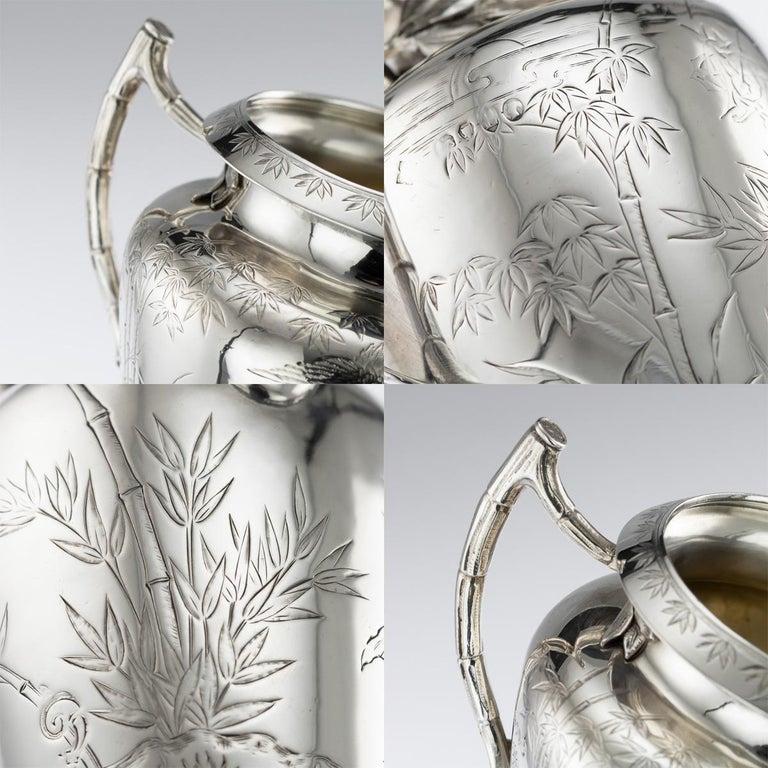 19th Century Victorian Aesthetic Movement Silver Tea Service, circa 1880 For Sale 4