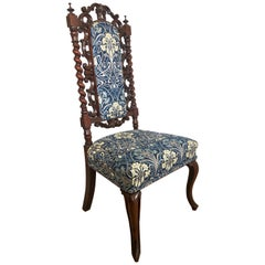 19th Century Victorian Antique Carved Mahogany Hall/Side Chair
