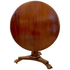 19th Century Victorian Antique Mahogany Circular Centre Table