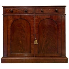 19th Century Victorian Antique Mahogany Side Cabinet