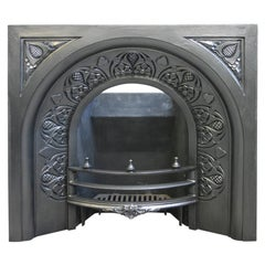 19th Century Victorian Arched Cast Iron Fire Insert