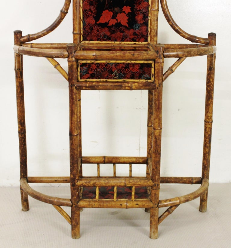 19th Century Victorian Bamboo Hall Stand For Sale 6