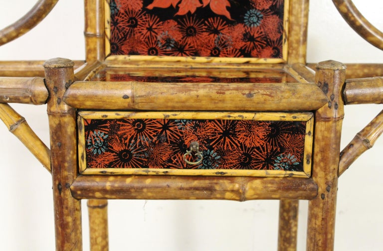 19th Century Victorian Bamboo Hall Stand For Sale 7