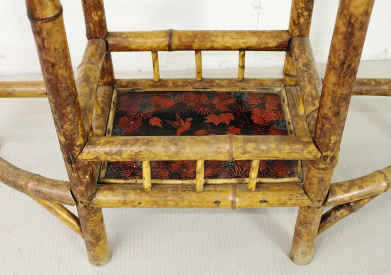 19th Century Victorian Bamboo Hall Stand For Sale 1