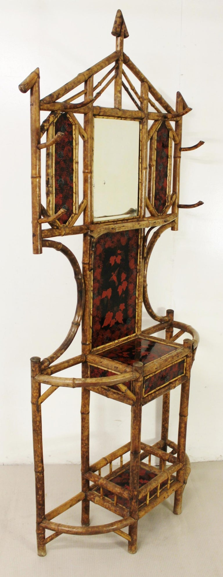 19th Century Victorian Bamboo Hall Stand For Sale 2