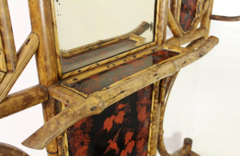 19th Century Victorian Bamboo Hall Stand For Sale 4