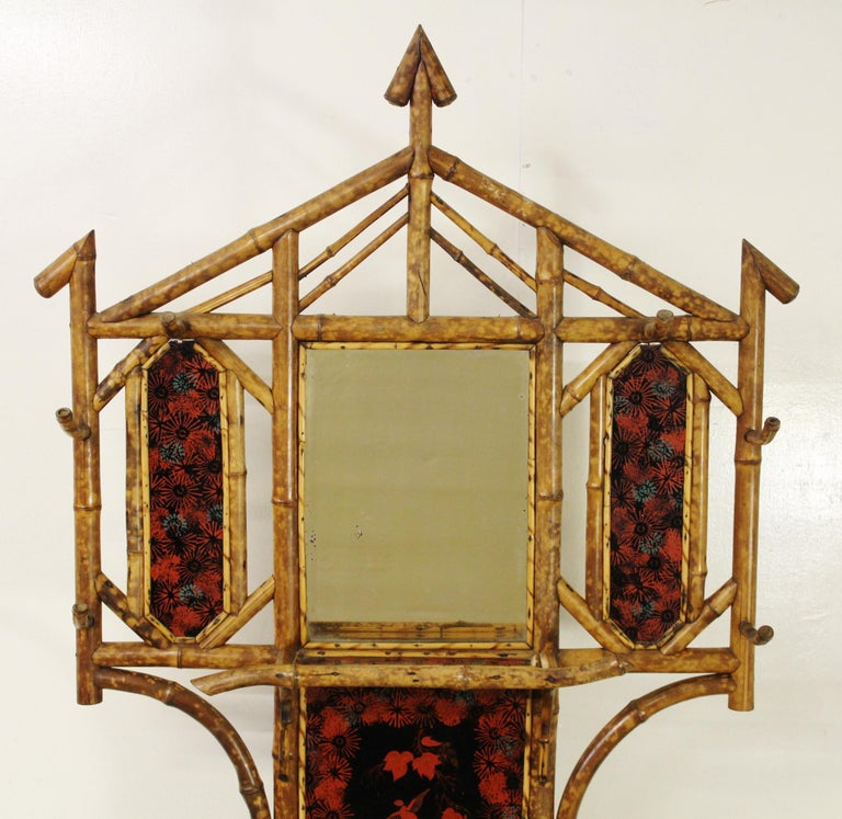 19th Century Victorian Bamboo Hall Stand For Sale 5