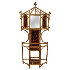 19th Century Victorian Bamboo Hall Stand