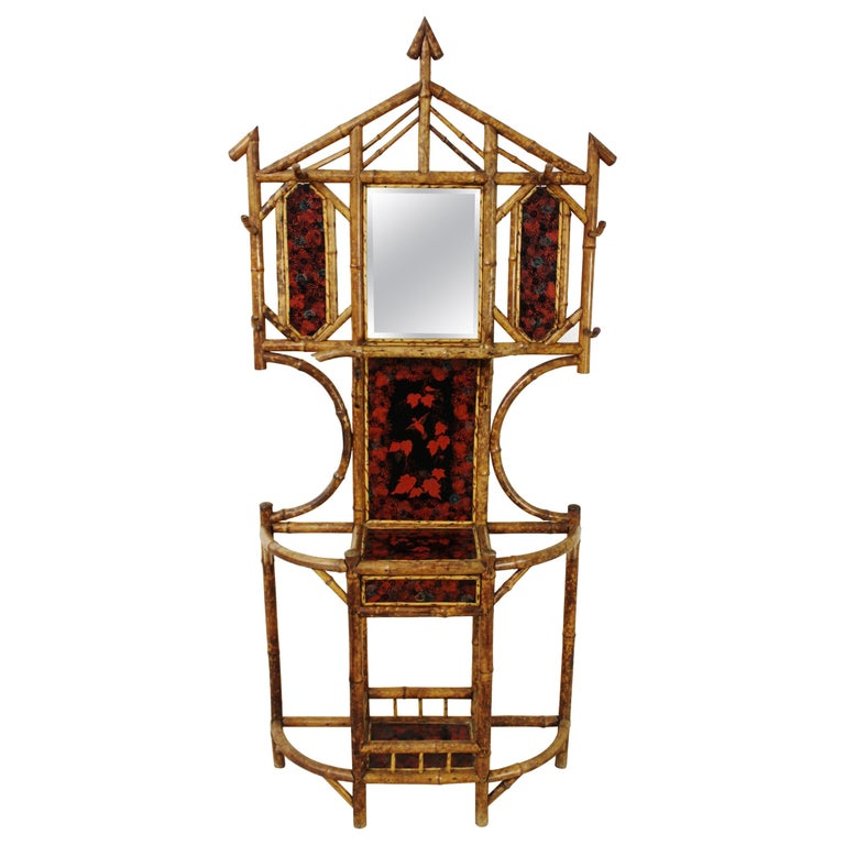 19th Century Victorian Bamboo Hall Stand For Sale