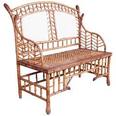 19th Century Victorian Bamboo Settee