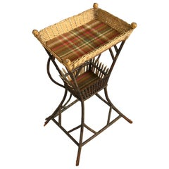 19th Century Victorian Basket and Canework Occasional Table