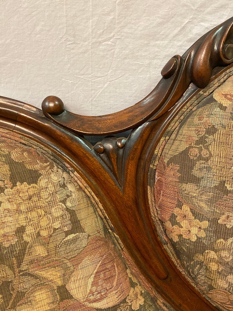 19th Century Victorian Belter Style Canopy Or Love Seat, Sofa For Sale 4