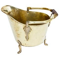 19th Century Victorian Brass Coal Scuttle