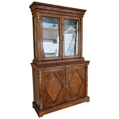 19th Century Victorian Burr Walnut Bookcase