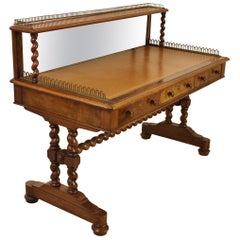 19th Century Victorian Burr Walnut Writing Table