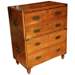 19th Century Victorian Campaign Chest of Drawers