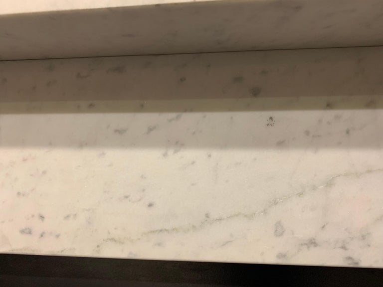 19th Century Victorian  Carrara Marble Fireplace Surround For Sale 5