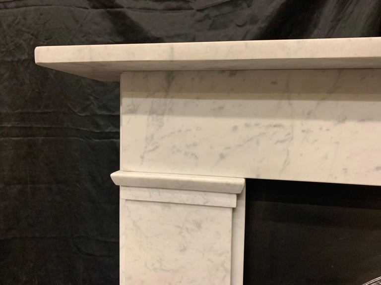 English 19th Century Victorian  Carrara Marble Fireplace Surround For Sale