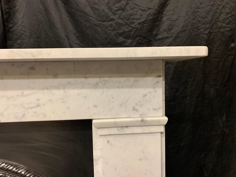 19th Century Victorian  Carrara Marble Fireplace Surround In Good Condition For Sale In Edinburgh, GB