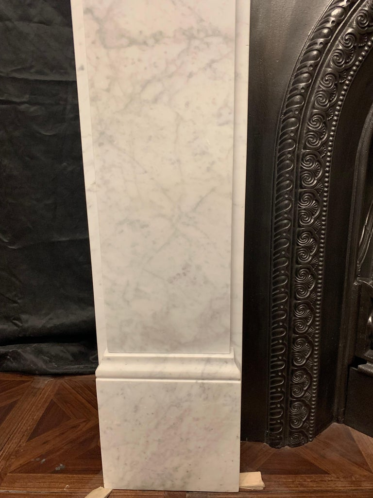 Late 19th Century 19th Century Victorian  Carrara Marble Fireplace Surround For Sale