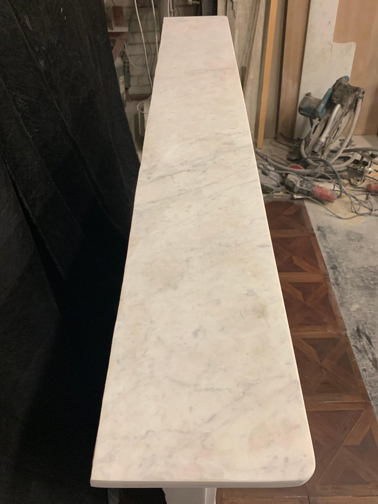 19th Century Victorian  Carrara Marble Fireplace Surround For Sale 3