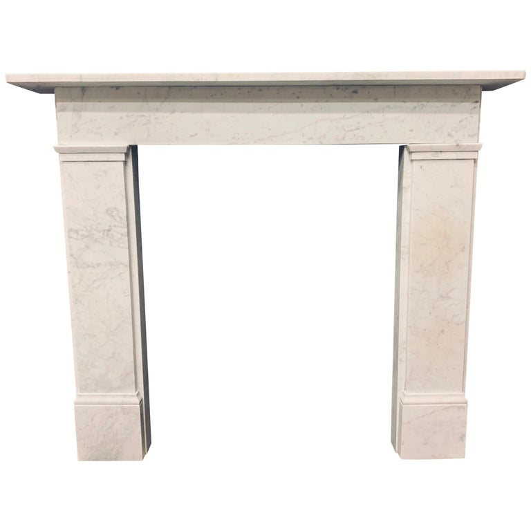 19th Century Victorian  Carrara Marble Fireplace Surround For Sale