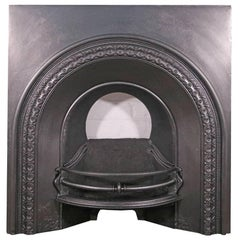 19th Century Victorian Cast Iron Arched Fireplace Grate